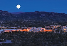 Aerial view of Encantado Resort in Santa Fe, New Mexico