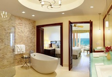 Bathroom with a view at The Reefs Club on Bermuda