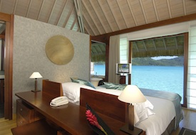 Interior of Overwater Bungalow at InterContinental Bora Bora Resort & Thalasso Spa
