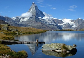 Panorama of the Matterhorn near Zermatt