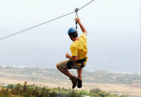 Zip-Lining in Maui