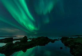 The Aurora Borealis or Northern Lights from Iceland