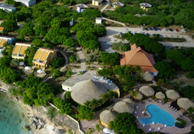 Aerial View of Lodge Kura Hulanda on Curacao