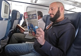 Mike Barish airplane ShermansTravel SkyMall plane