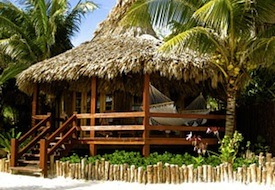 Beachfront cabana at Ramon's Village Resort in Belize