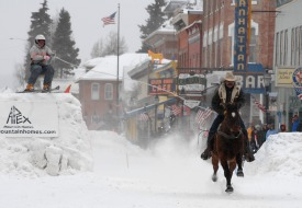 Leadville skijoring competition