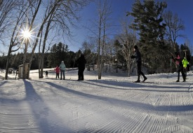cross country skiing Winter Trails Day