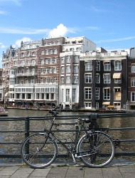 Amsterdam canal by bike