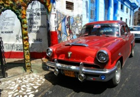 a classic car in Cuba