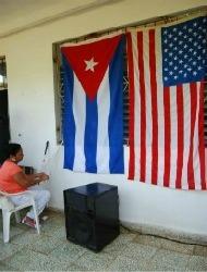Cuban American flags Cuba