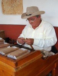 Cuban cigar maker