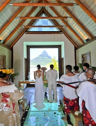 Inter Continental Bora Bora Chapel Wedding