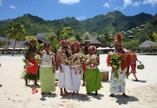 Inter Continental Moorea Wedding3