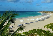 The beach at CuisinArt Resort on Anguilla
