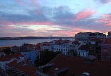 View from Rooftop Bar at Hotel Bairro Alto in Lisbon