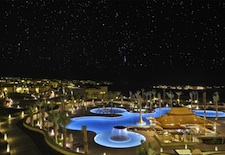 Qasr Al Sarab Pool at Night