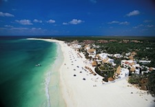 Aerial view of the beach at Maroma Resort and Spa