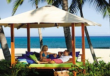 Couple at Four Seasons Resort Hualalai on Hawaii's Big Island