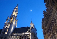 Grand Place in Brussels at Twilight