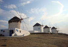Windmills in Mykonos Town