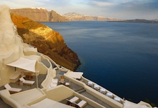 View from Mystique on Santorini
