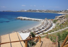 Beach at Santa Marina Resort on Mykonos