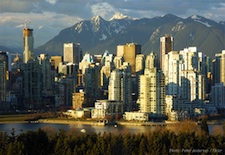 Skyline of Vancouver, British Columbia