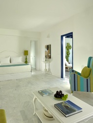 Room at Vedema Resort & Spa on Santorini