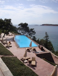 Pool at Arion Resort & Spa outside Athens