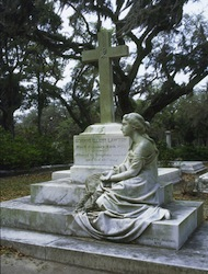 Statue in Bonaventure Cemetery in Savannah, GA