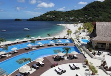 Pools at Buccament Bay Resort on St. VIncent