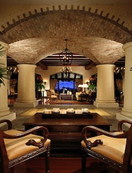 Lobby of Los Suenos Marriott in Costa Rica
