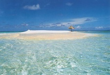 Mopion Island in the Grenadines