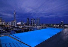 Rooftop pool at Thompson Toronto