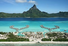Aerial shot of InterContinental Bora Bora Resort & Thalasso Spa