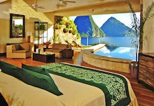 View from Sanctuary room at Jade Mountain in St. Lucia