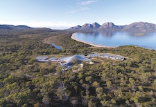 Aerial view of Saffire Freycinet in Tasmania