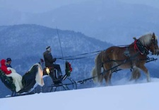 Sleigh ride in Stowe, Vermont