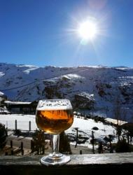 Beer Skiing