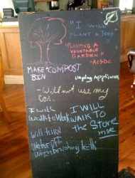 Ecocafe Pledge Board