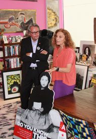 Diane Von Furstenberg and Vice-Mayor of Antwerp, Belgium Philip Heylen 