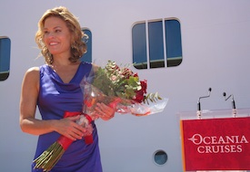 Chef Cat Cora at Oceania Riviera Christening