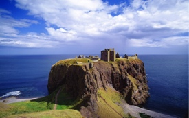 Dunnottar Castle near Stonehaven in Aberdeenshire, Scotland