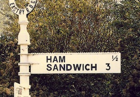 ham sandwich street sign