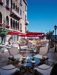 Canale Bar Terrace at Bauer L'Hotel In Venice