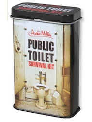 public toilet kit tin can
