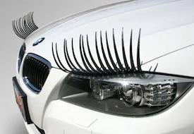 CarLashes eyelashes car headlights