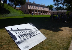 Barracks at Fort Mackinac in Michigan