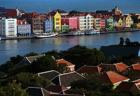 Willemstad on the Caribbean island of Curacao