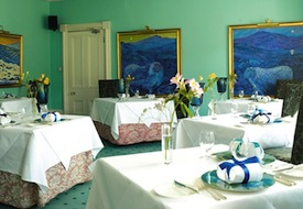 Dining Room at Ynyshir Hall in Wales
